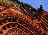 Detail of decoration of catedral — Stock Photo