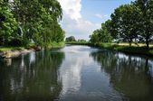 Calm river, landscape — ストック写真
