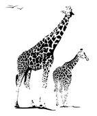 Ilustracja żyrafa — Zdjęcie stockowe
