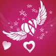 Hearts and wings — Stock Photo #40863313
