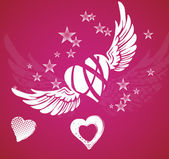 Hearts and wings — Stock Photo