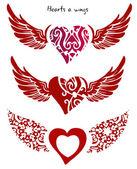 心和翅膀 — 图库照片