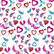 Wings and hearts pattern — Stock Vector #41887665