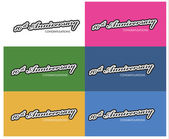 Anniversary labels — Stock Vector