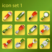 Icon set 1 — Stock vektor