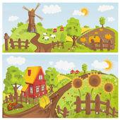 Paysage rural — Vecteur