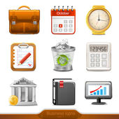 Businesss icons set1 — Stock Vector