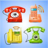 Icones celular — Vetor de Stock