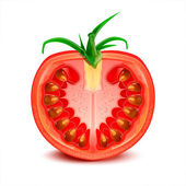 A slice of tomato vector — Stok Vektör
