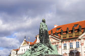 Jan Hus monument — Stock Photo