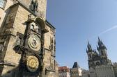 Astronomical clock in Prague — Stock Photo