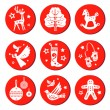 Christmas round set — Stock Vector