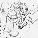 Glass & bottle — Stock Vector