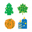 Seasonal items — Imagen vectorial