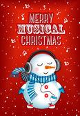 Merry musical christmas — Stock Vector