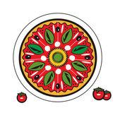 Vector isolate Pizza — Stock Vector