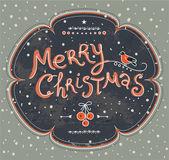 Merry christmas watercolor card — Stock Vector