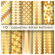 10 Geomatric Retro Pattern Graphic Design — Stock Vector