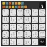Braille Alphabet Icon Set — Stock Vector