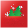 Braille Alphabet Christmas Background Banner With Paper Graphic — Stock Vector #36925171