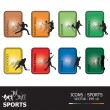 Stock Vector: Icons Sports Sets