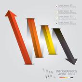 Modern okları Infographic tasarım şablonu — Stok Vektör