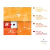 Modelo de bannerdesign de fundo abstrato infográfico — Vetor de Stock