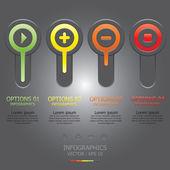Moderne cirkel infographic ontwerpsjabloon — Stockvector