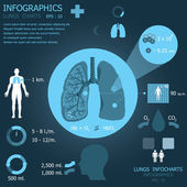 Lungs Infochart Infographic — Stock Vector