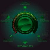 Button Tuner Infographics Design Template — Stockvector