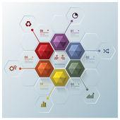 Modern Hexagon Business Infographic Design Template — Stock Vector