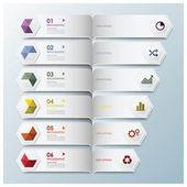 Hexagon Geometric Shape Infographic Design Template — Stock Vector