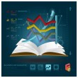 Stock Vector: Business Infographic With Open Book Learning Style