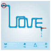 Water Pipe Business Infographic For Valentine Day Design Templat — Stock Vector