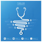 Timeline Health And Medical Infographic Design Template — ストックベクタ