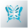 Butterfly Greeting Card With Origami Paper Style Vector — Stock Vector #40269623