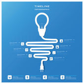 Light Bulb Timeline Business Infographic Design Template — Stock Vector