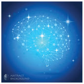 Brain Shape Abstract Geometric Background — Vecteur