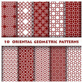 Oriental Geometric Pattern Style — Stock Vector