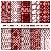 Oriental Geometric Pattern Style — Vector de stock