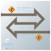 Calle & calle tráfico signo negocios infografía diseño plantilla — Vector de stock
