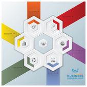 Modern Hexagon Business Infographic — Stock Vector