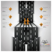 Road And Street Traffic Sign Business Infographic — Vector de stock
