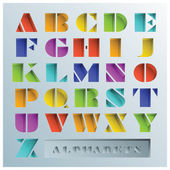 Colorful Hole Alphabets Font Style — Stock Vector