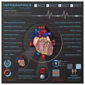 Heart And Blood System Medical Infographic Infochart — Stock Vector