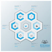 Modern Hexagon Business Infographic — Stockvektor