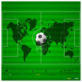 Football Field Sport Infographic Background Design Template — Vetorial Stock