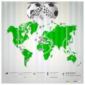 Road To Brazil 2014 Football Tournament Sport Infographic Backgr — Wektor stockowy