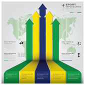 Football Tournament Sport Infographic Background — Vector de stock