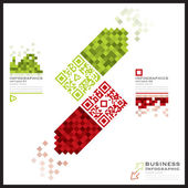 QR Code Business Infographics Banner And Background — 图库矢量图片
